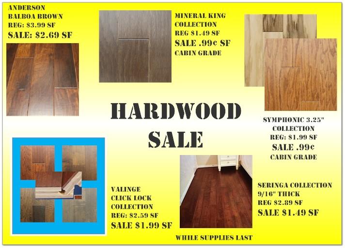 hardwood flooring sale