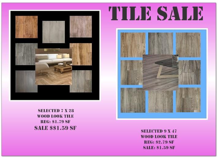 tile flooring sale