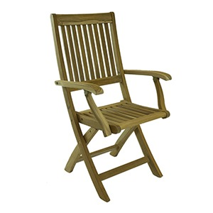 BALI RUSTIC TEAK FOLDING ARM CHAIR