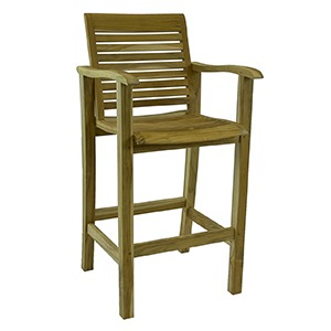 BAR RUSTIC TEAK CHAIR WITH ARM