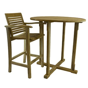 Bar Rustic Teak Chair With Arm 99 Cent Floor Store