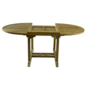 MANADON RUSTIC TEAK EXTENDABLE TABLE