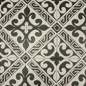 BLACK VERSALLES DECORATIVE TILE
