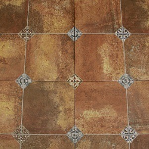 Cuero Roses Decorative Floor Tile