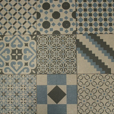 MIXED BLUE BOREAL DECORATIVE TILE