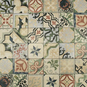 MULTICOLOR BORNE DECORATIVE TILE