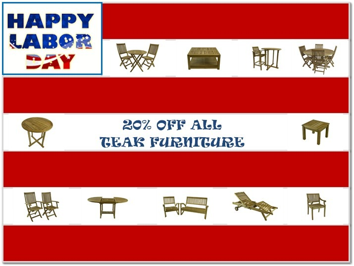 LABOR DAY TEAK SALE