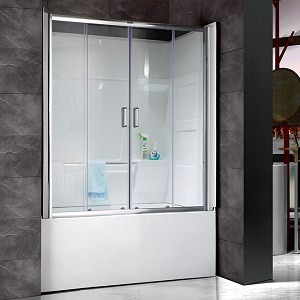 ALL IN ONE BATH AND SHOWER WITH GLASS