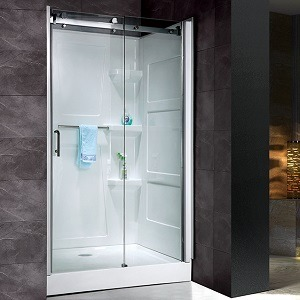 STAND UP SHOWER WITH GLASS