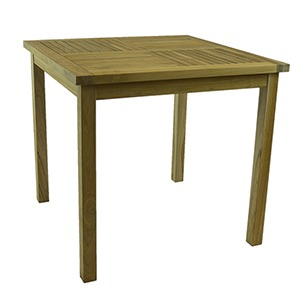 SQUARE TEAK DINING TABLE