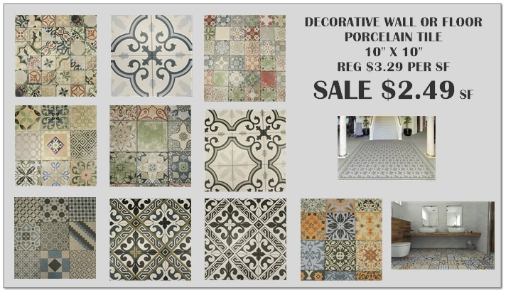 DECORATIVE WALL OR FLOOR TILE