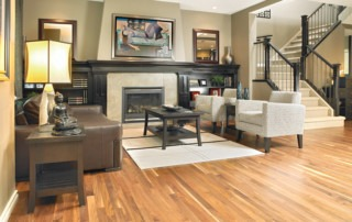 Real hardwood flooring gets worn down over time and eventual requires an update.