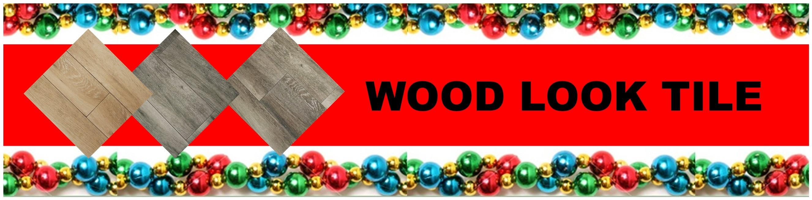 CHRISTMAS WOOD LOOK TILE HEADER