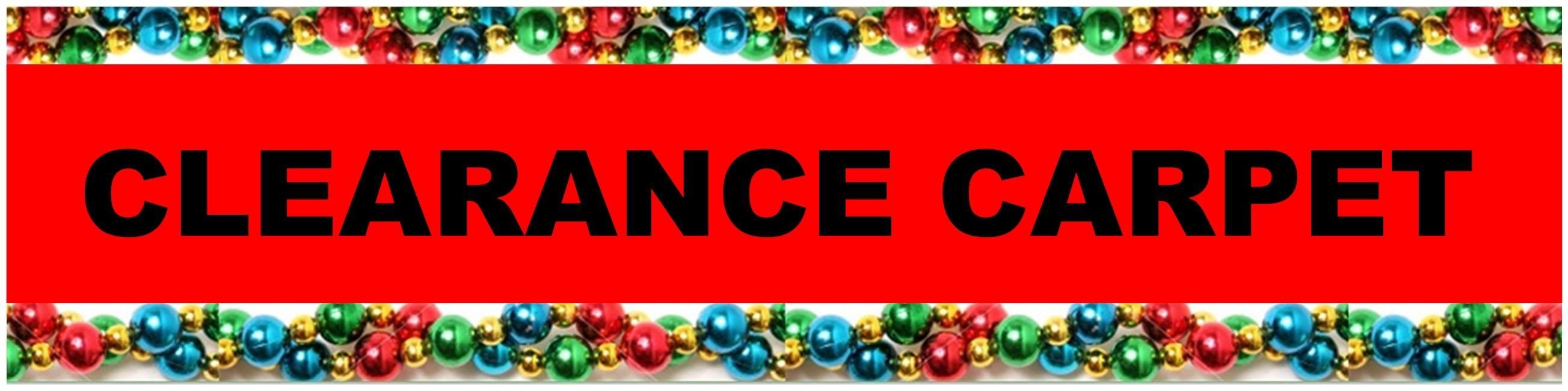 CHRISTMAS CLEARANCE CARPET HEADER