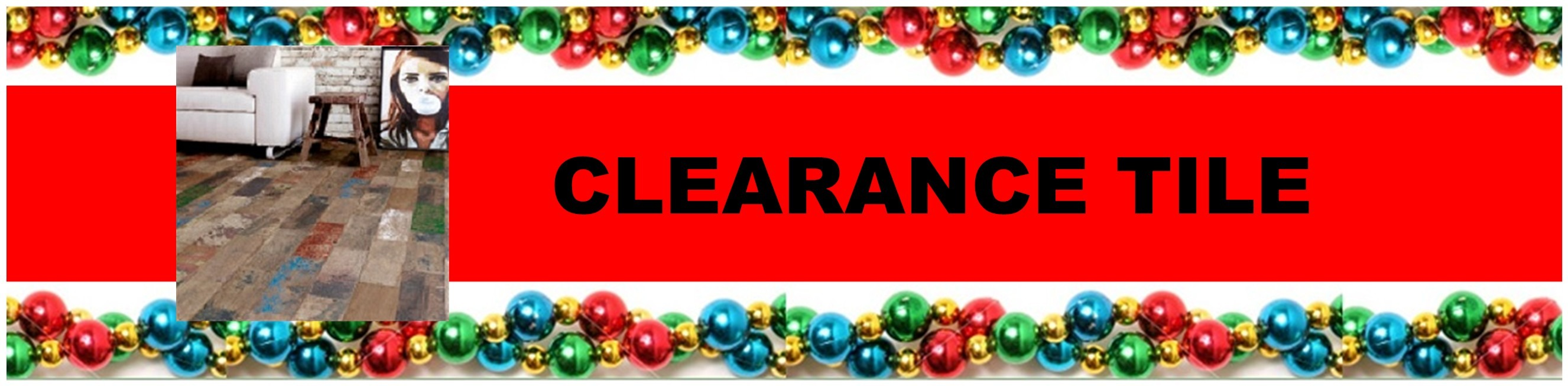 CHRISTMAS CLEARANCE TILE HEADER