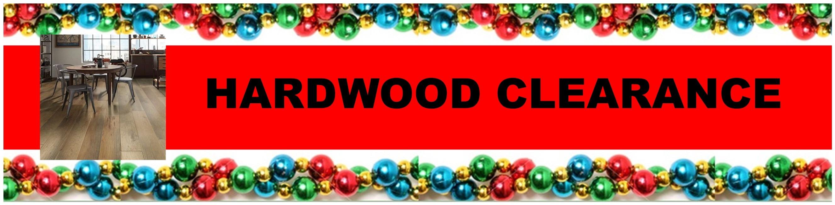 CHRISTMAS HARDWOOD CLEARANCE HEADER