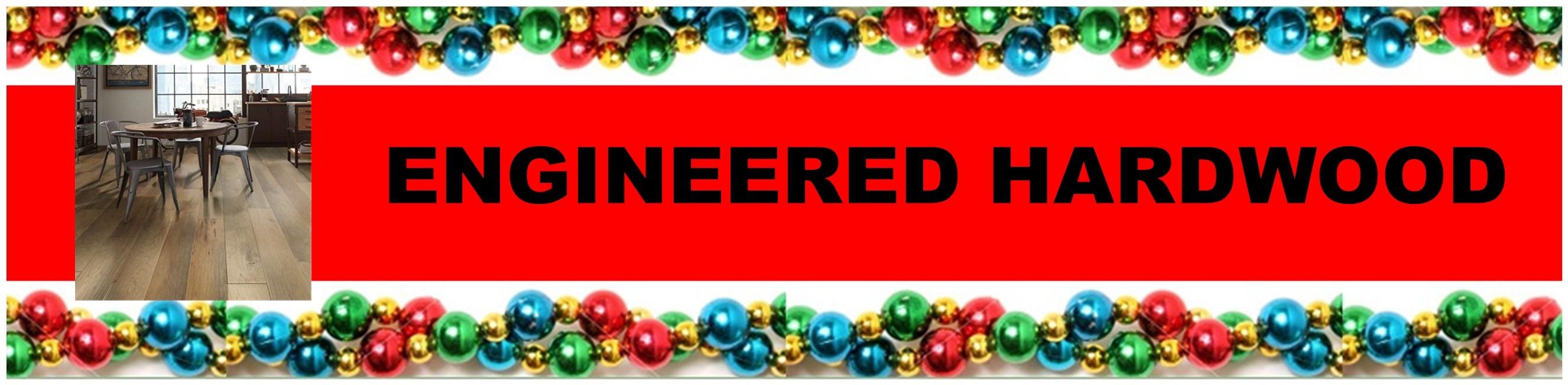 CHRISTMAS HARDWOOD HEADER