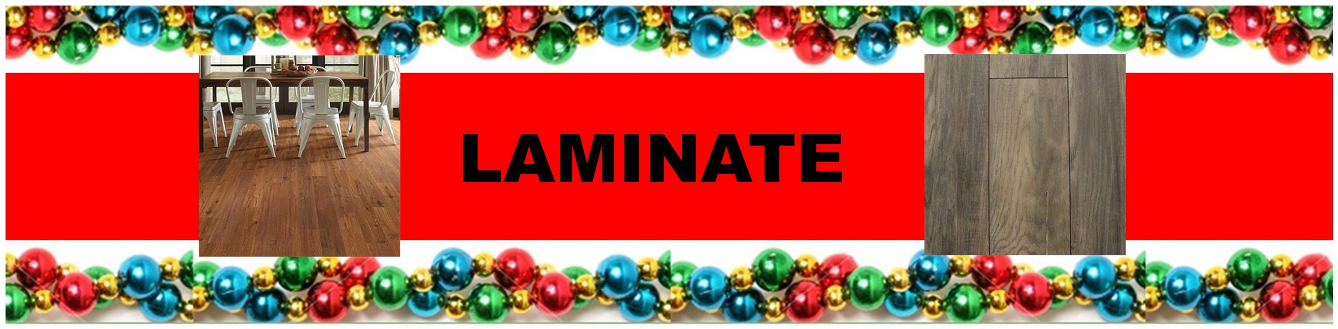 CHRISTMAS LAMINATE HEADER