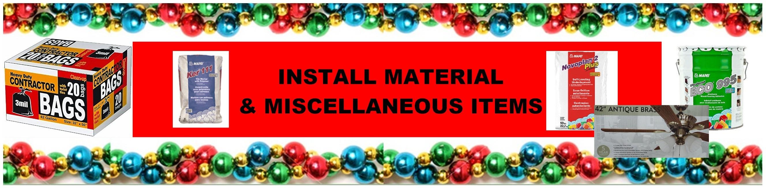 CHRISTMAS MATERIALS HEADER