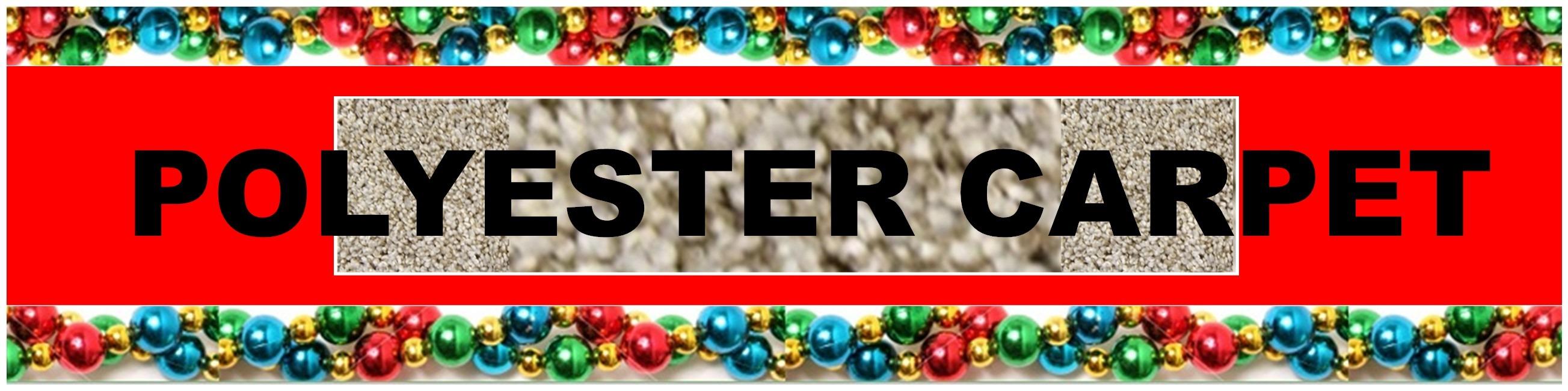 CHRISTMAS POLYESTER CARPET HEADER