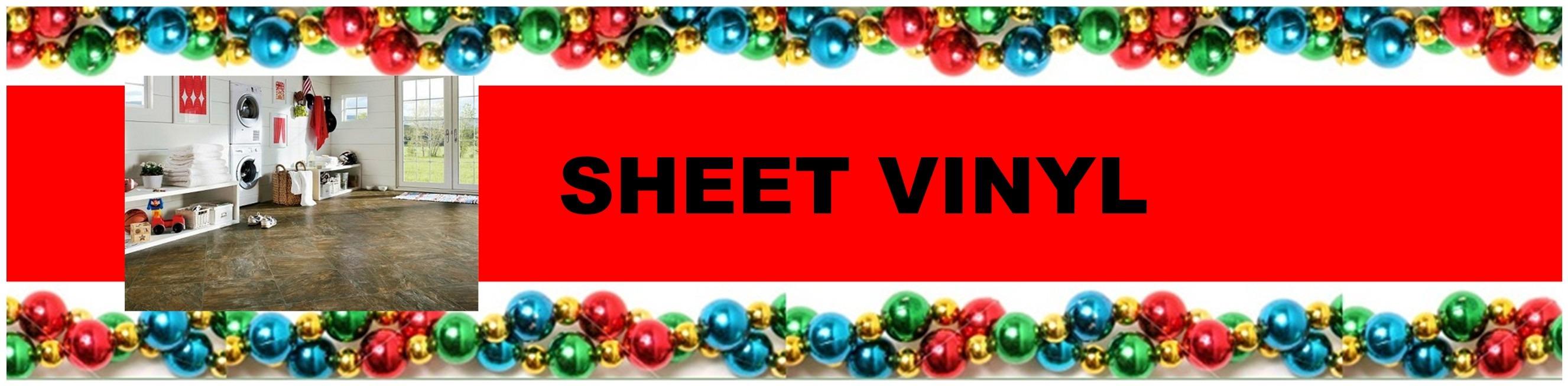 CHRISTMAS SHEET VINYL HEADER