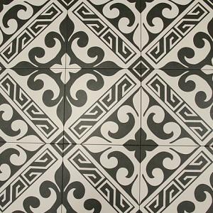 Black Versalles Porcelain Decorative Tile
