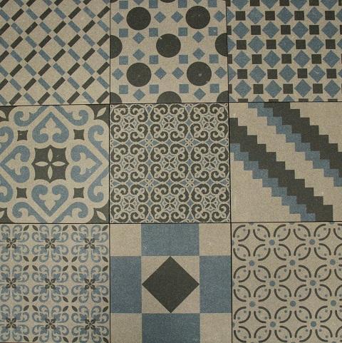 Mix Blue Boreal Porcelain Decorative Tile