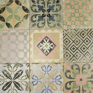 Sofia Nonna Porcelain Decorative Tile Swatch