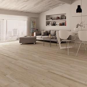 Beige Pecan Wood Look Porcelain Tile