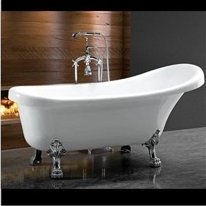 C3015-1 Freestanding Bathtub With Chrome Feet