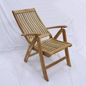 Bogor Reclining Teak Chair With Arms