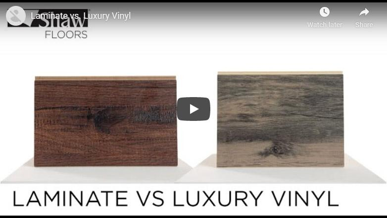 Video thumbnail of a comparison between laminate vs luxury vinyl flooring