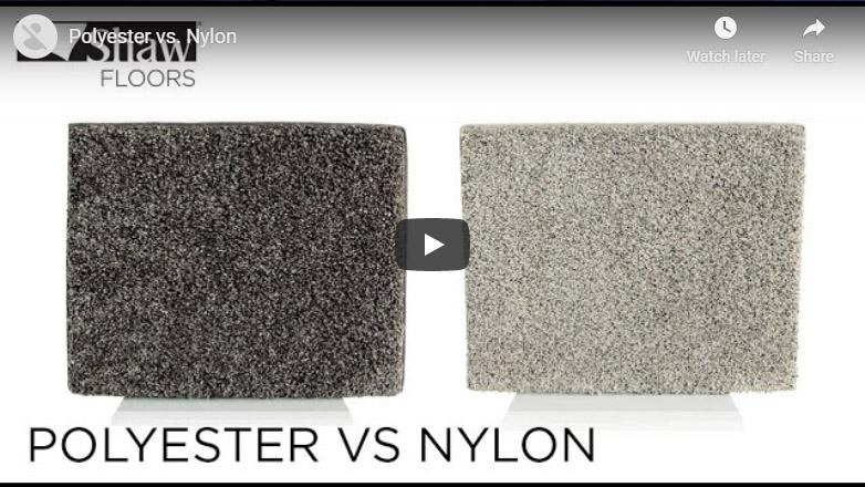 Video thumbnail of a comparison between polyester and nylon carpet