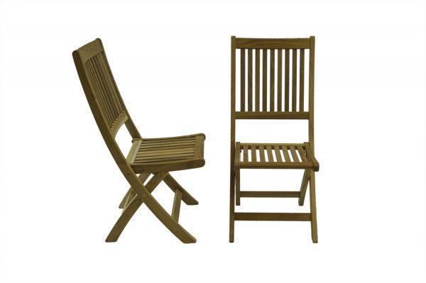 Bali Rustic Teak Folding Chairs