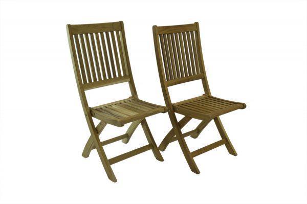 Bali Rustic Teak Folding Chair