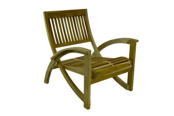 Picole Rustic Teak Single Sofa