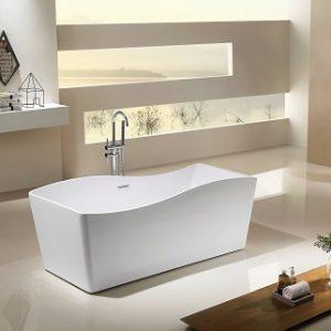 SP1873-15 White Acrylic Freestanding Bathtub