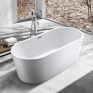 SP1891-15 White Acrylic Freestanding Bathtub