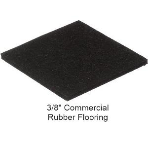 Commercial Solid Black Rolled Rubber Flooring