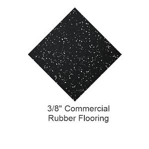 Commercial Gray Fleck Rolled Rubber Flooring
