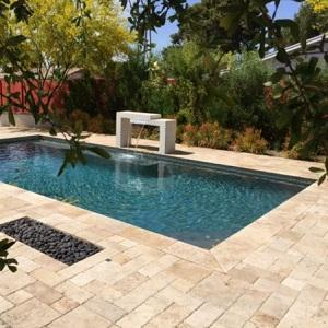 Ancient Castle Travertine Swimming Pool Coping