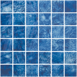 Arrecife Blue Vanguard Glass Waterline Tile