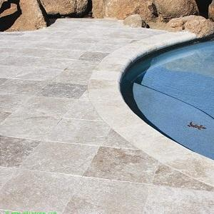 English Walnut Travertine Swimming Pool Coping
