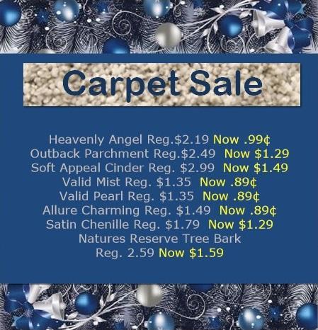 020 Holiday Carpet Deals