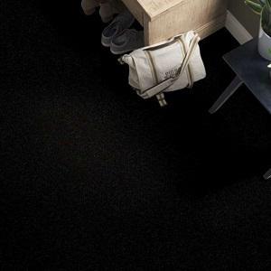 Coal Black Dyersburg Classic Polyester Carpet