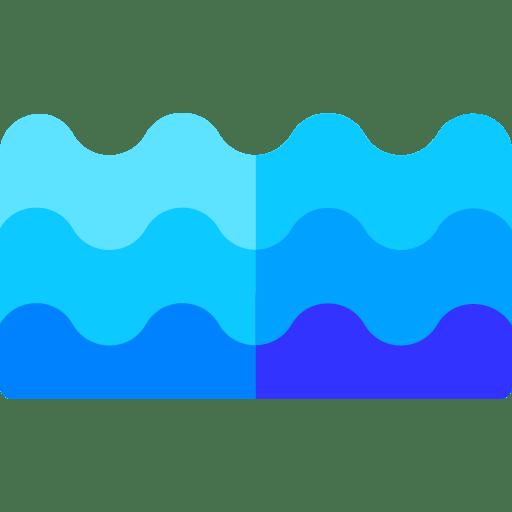 Waterline pool tiles & water