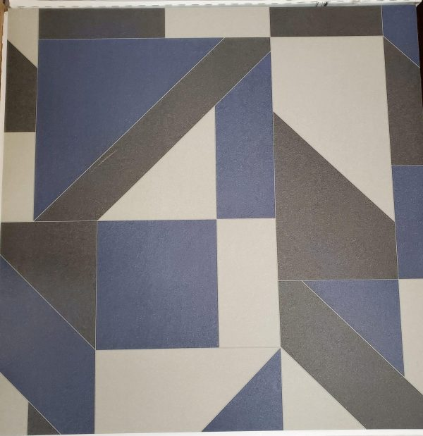 Angle Blue Angled Path Glue Down Vinyl