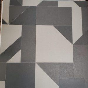 Segement Angled Path Glue Down Vinyl