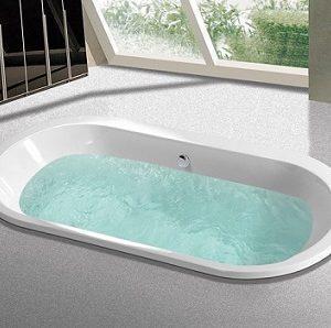 C-509 White Acrylic Drop-in Bathtub
