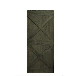 Light Grey Borneo Ash Barn Door Double X